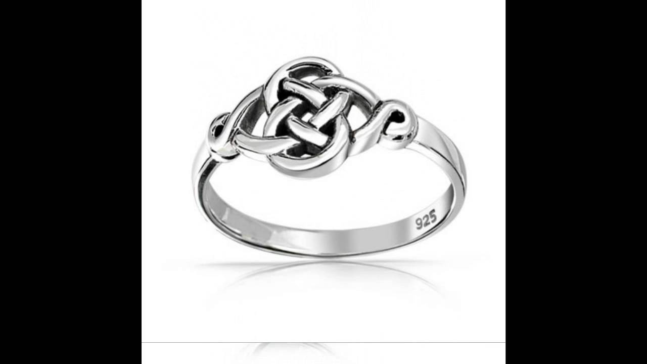 Bling Jewelry 925 Sterling Silver Irish Celtic Love knot Ring ...