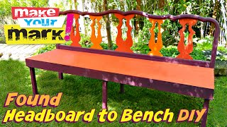 How To: Found Headboard To Bench