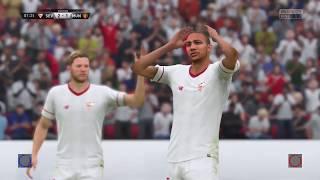 SEVILLA vs MANCHESTER UNITED | 21/2/18 | Highlights | Champions League | HD | Simulation FIFA 18