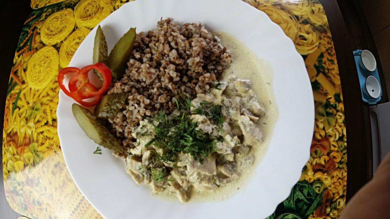 Грибная подлива с курицей, вкусный домашний рецепт)