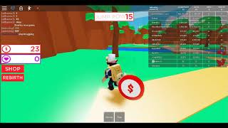 ROBLOX jumping on a pogo stick