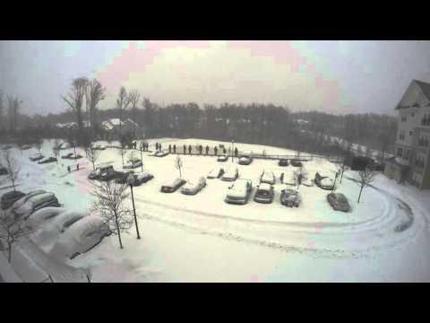 [4K] Snowstorm Jonas Timelapse