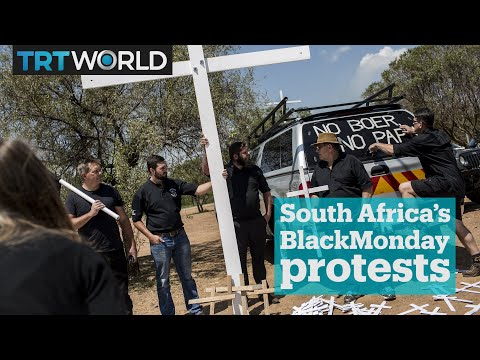 White farmers observe #BlackMonday protests in South Africa