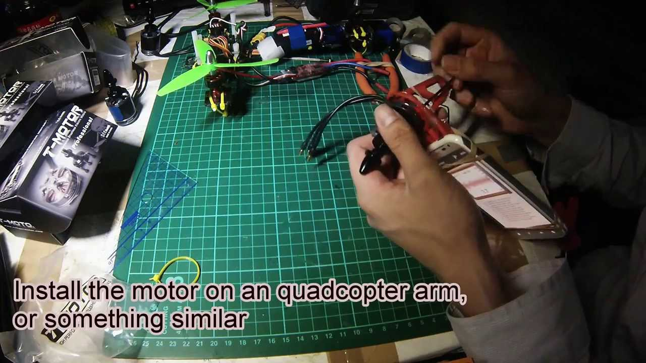 My way to Balance Motor for Quadcopter and Tricopter