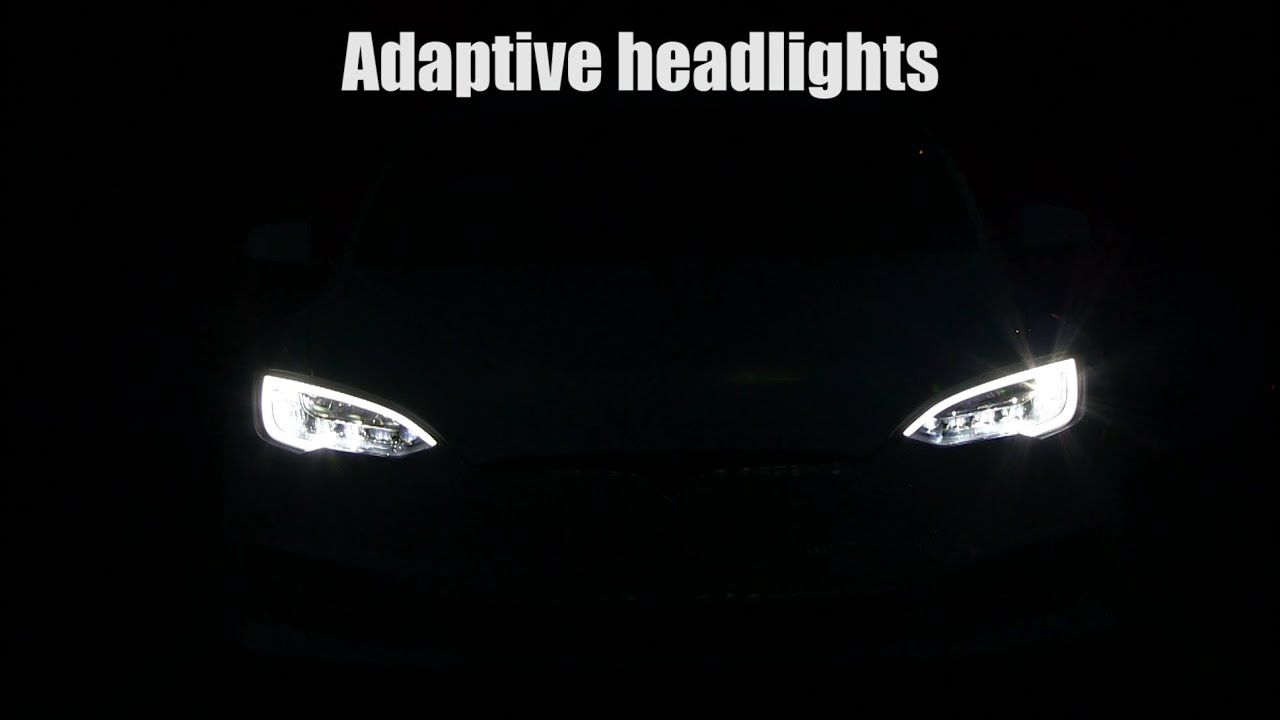 Tesla Model S facelift headlights front view - YouTube