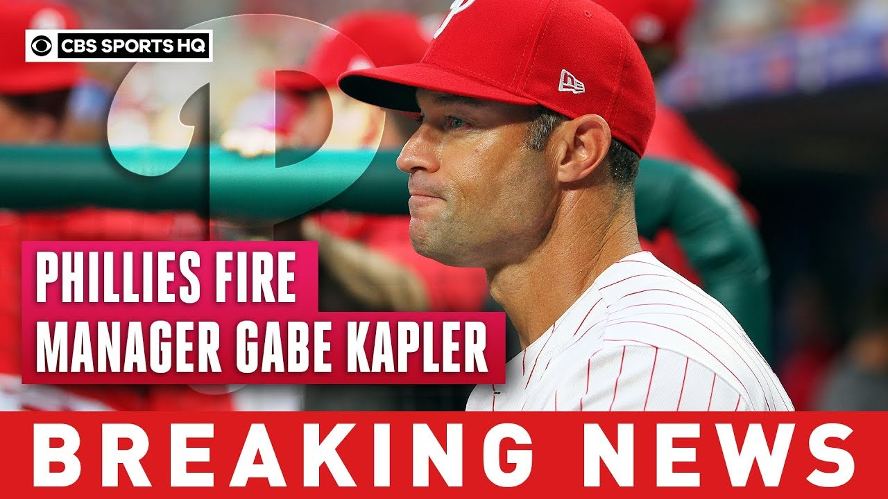 Phillies fire manager Gabe Kapler after two disappointing seasons