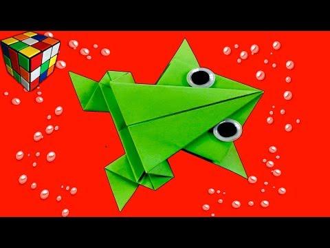 Видеоурок лягушка оригами