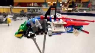 Micro Lego Spaceship Show Case