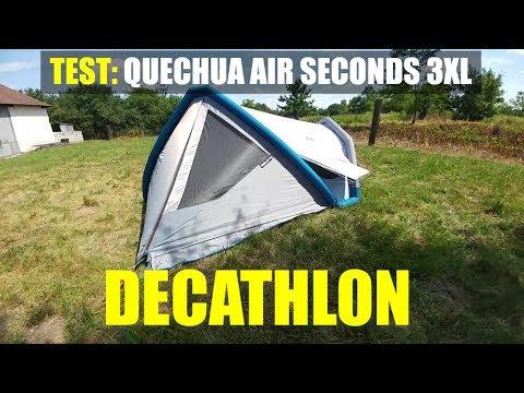 41d22455c Test of  QUECHUA camping tent Air Seconds 3XL Fresh Black - DECATHLON  (inflatable!)