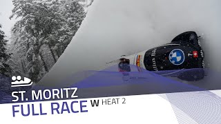 St. Moritz | BMW IBSF World Cup 2020/2021 - Women's Bobsleigh Heat 2 | IBSF Official