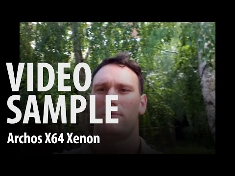 Archos 64 Xenon : front camera video sample