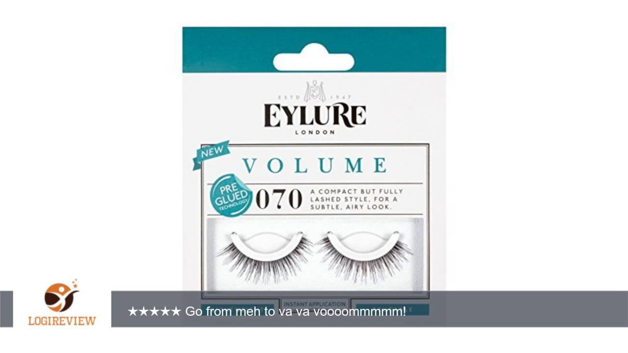 Pack Of 5 Pairs Eylure Pre Glued 070 False Eyelashes Lashes Reviewtest