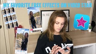 My favorite Free Video Star effects