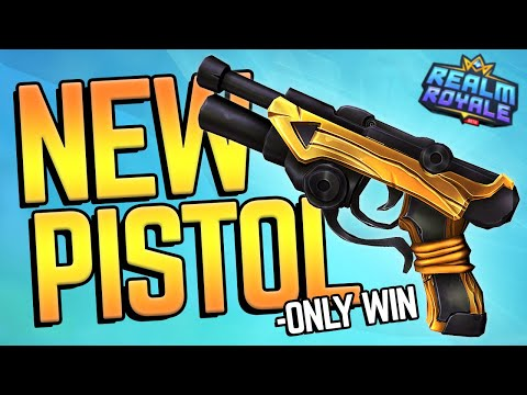 PISTOL ONLY WIN! (New Weapon in Realm Royale)