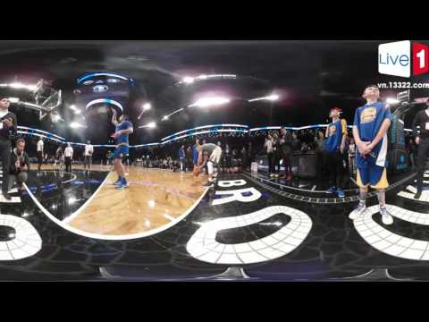 Steph Curry's Pregame Warmup in 360 Degrees vs. the Brooklyn Nets