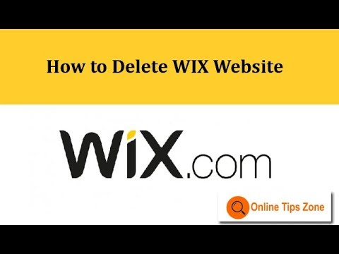 How to delete a WIX site