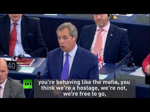 Farage calls EU Parliament