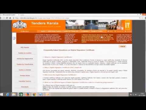 Kerala E Procurement Video tutorial for bidder registration(For Bidders)