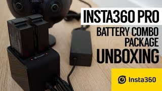 Insta360 Pro 8K 360 vr camera Battery Combo Package Unboxing