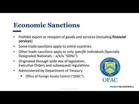 Economic Sanctions 101: Compliance, Risk and Best Practices in the Global Supply Chain