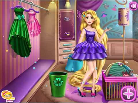 Мультик игра Рапунцель: Уборка в гардеробе (Rapunzel Wardrobe Clean Up)