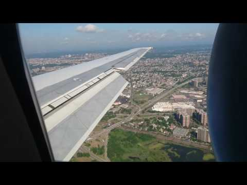 Flying over Manhattan NYC and landing at Laguardia