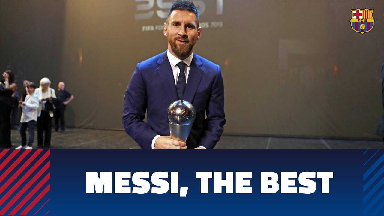 Leo Messi Wins The Best Fifa 2019 Award Youtube