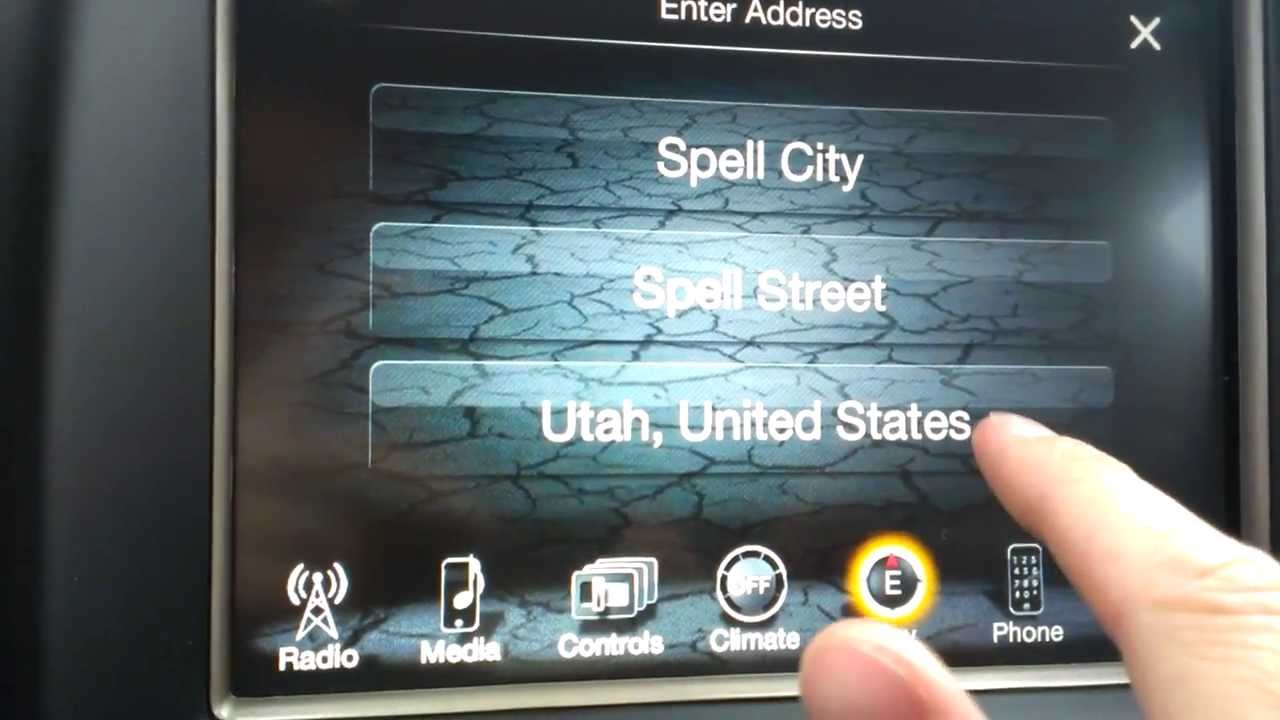 Larry H Miller Jeep >> How to Use Chrylser's 8.4 Navigation - YouTube