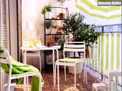 sonnenschirm f r balkon wei e m bel youtube. Black Bedroom Furniture Sets. Home Design Ideas