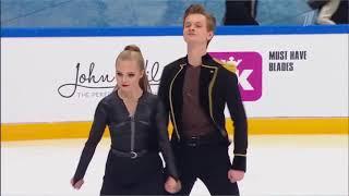 Ангелина Зимина Александр Гнедин 5 этап кубка России по фигурному катанию 2020 произвольный танец