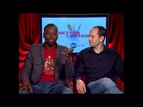 Better Off Ted's Jonathan Slavin and Malcolm Barrett  with Avi the TV Geek