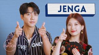 Download lagu Lee Seung-gi and Bae Suzy play Jenga [ENG SUB]