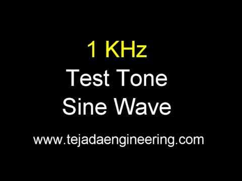 1KHz Test Tone Sine Wave - One Hour