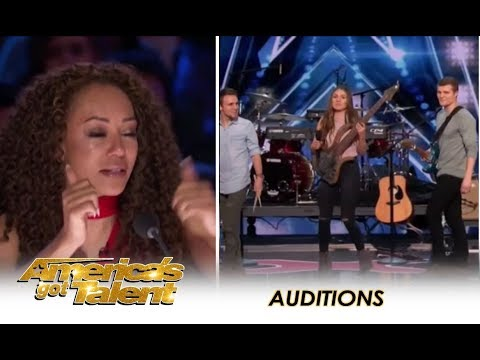 We Three Music: Sibling Trio TEARFUL Tribute To Their Late Mom  | America's Got Talent 2018