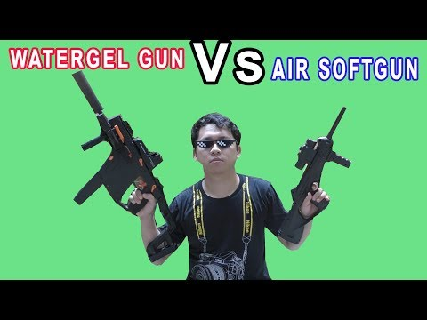 AIRSOFT GUN BERRETA CX4 Vs WATERGEL GUN KRISS VECTOR