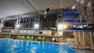 GoPro Hero6 100fps Slow Motion Test - Slow Motion Backflip In The Pool