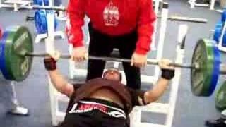 Andrey Butenko Bench Press 7 Nov 2004 Okotoks warmup 220 kg