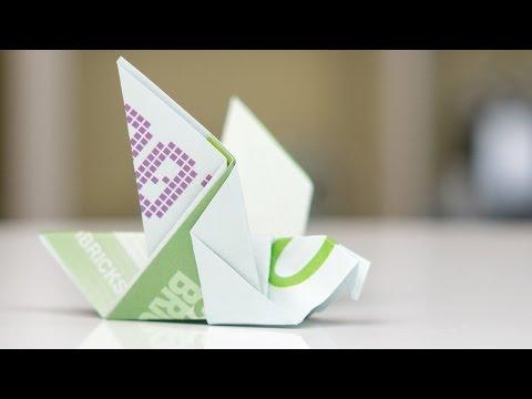 geldgeschenk idee maus falten origami anleitung doovi. Black Bedroom Furniture Sets. Home Design Ideas