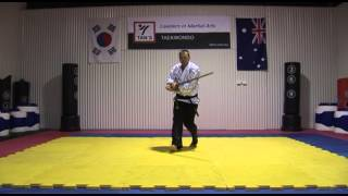 Tans Hapkido - W16 Wooden Sword Pattern 2