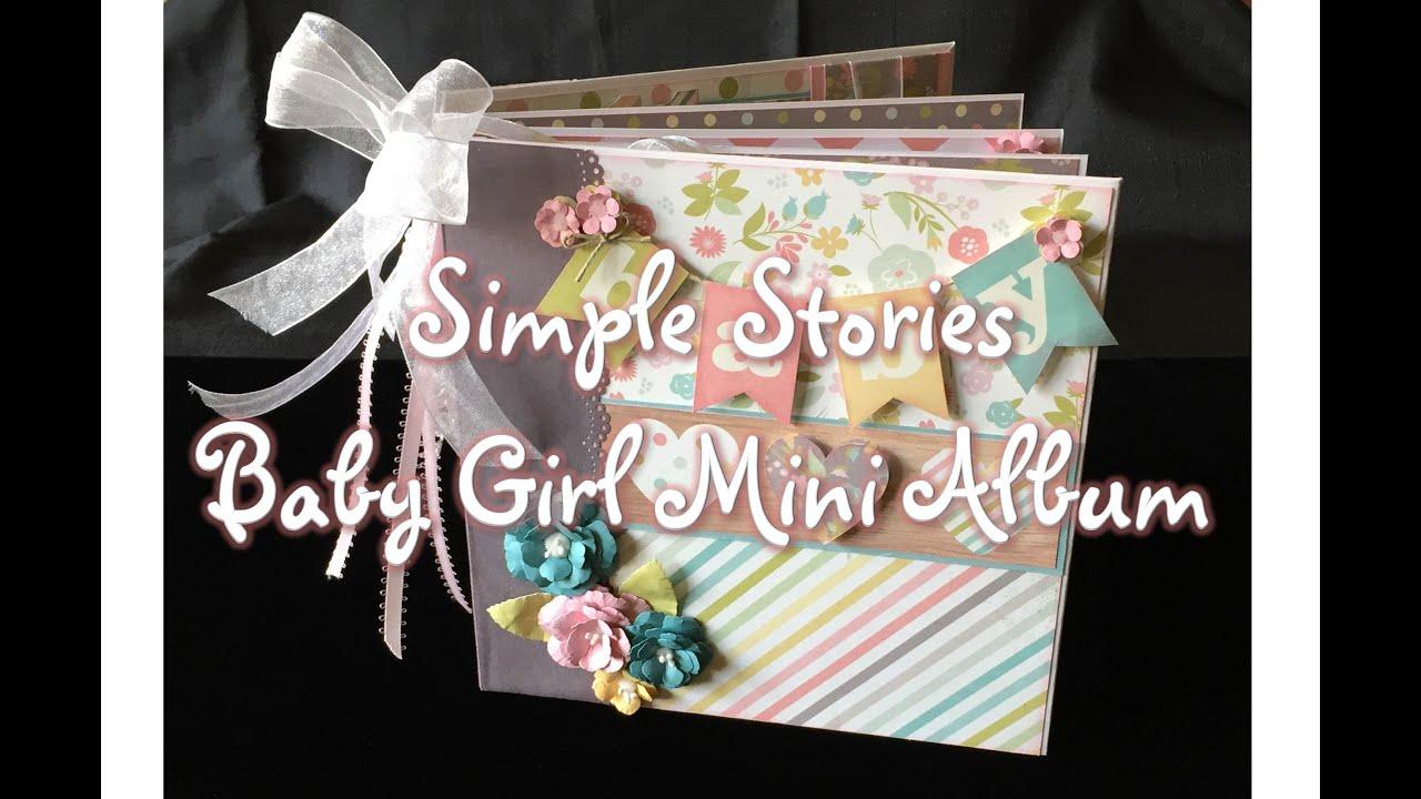 Simple Stories Baby Girl Mini Album