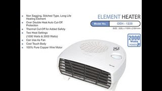 Orpat OEH 1220 2000 Watt Fan Heater White