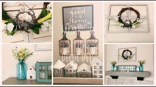 DIY Farmhouse Decor Dollar Tree |DIY Spring Home Decor |Refresh & Upcycle Projects