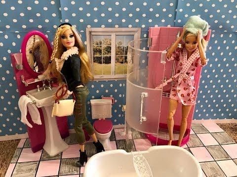 Barbie Morning Routine! NEW Bathroom!!