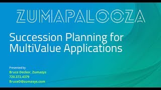 Succession Planning for MultiValue Apps