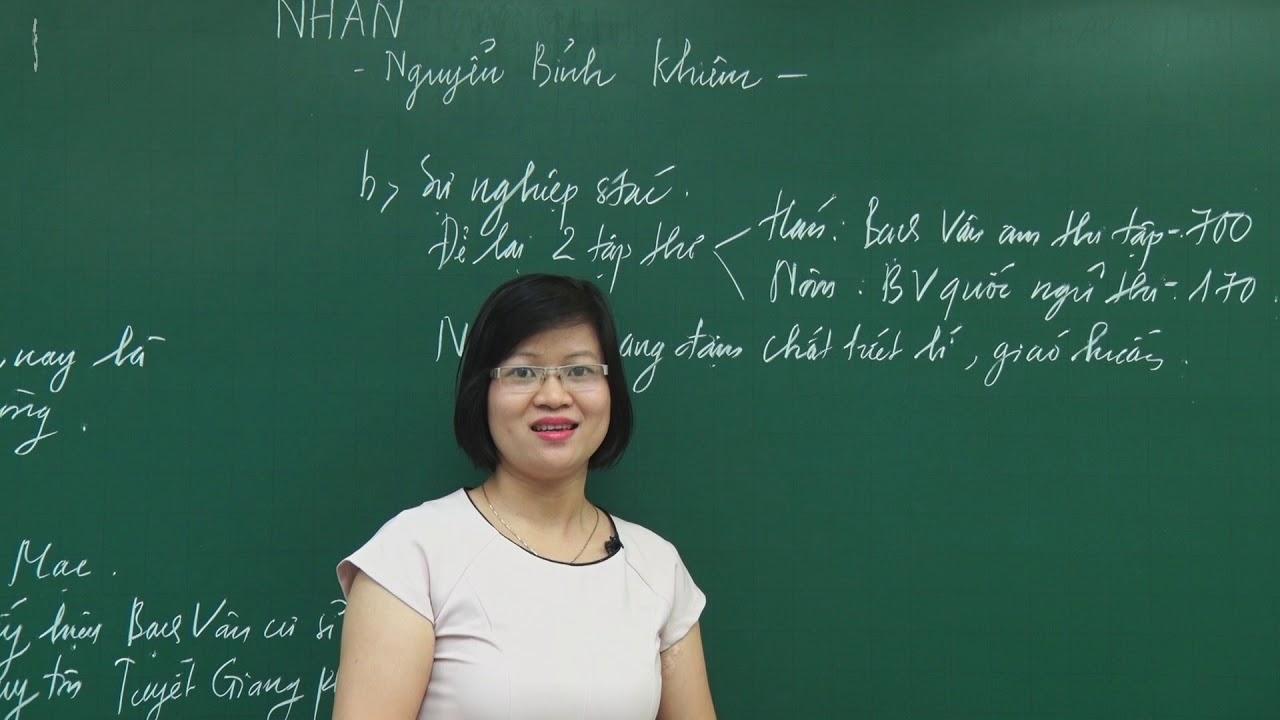 Bài giảng Nhàn – Tiết 1 – Môn Ngữ Văn lớp 10 – Cô Phạm Thị Thu Phương
