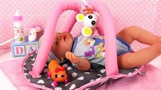 Baby Born Poupon Accessoires de Bébé Poussette Transat Aire de Jeux
