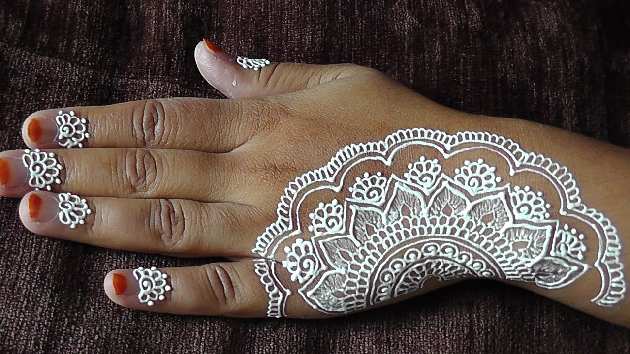 White Henna: How To Do An Easy White Henna Design On Your Hands
