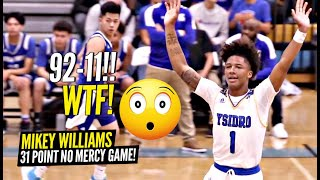 Mikey Williams DIDN'T Let Opposing Team SCORE In 1st Half!! Dunks EVERYTHING & Drops 31!