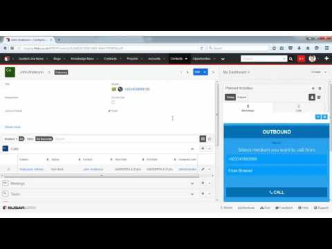 SugarCRM and Telephony Integration | RT Telephony Demo