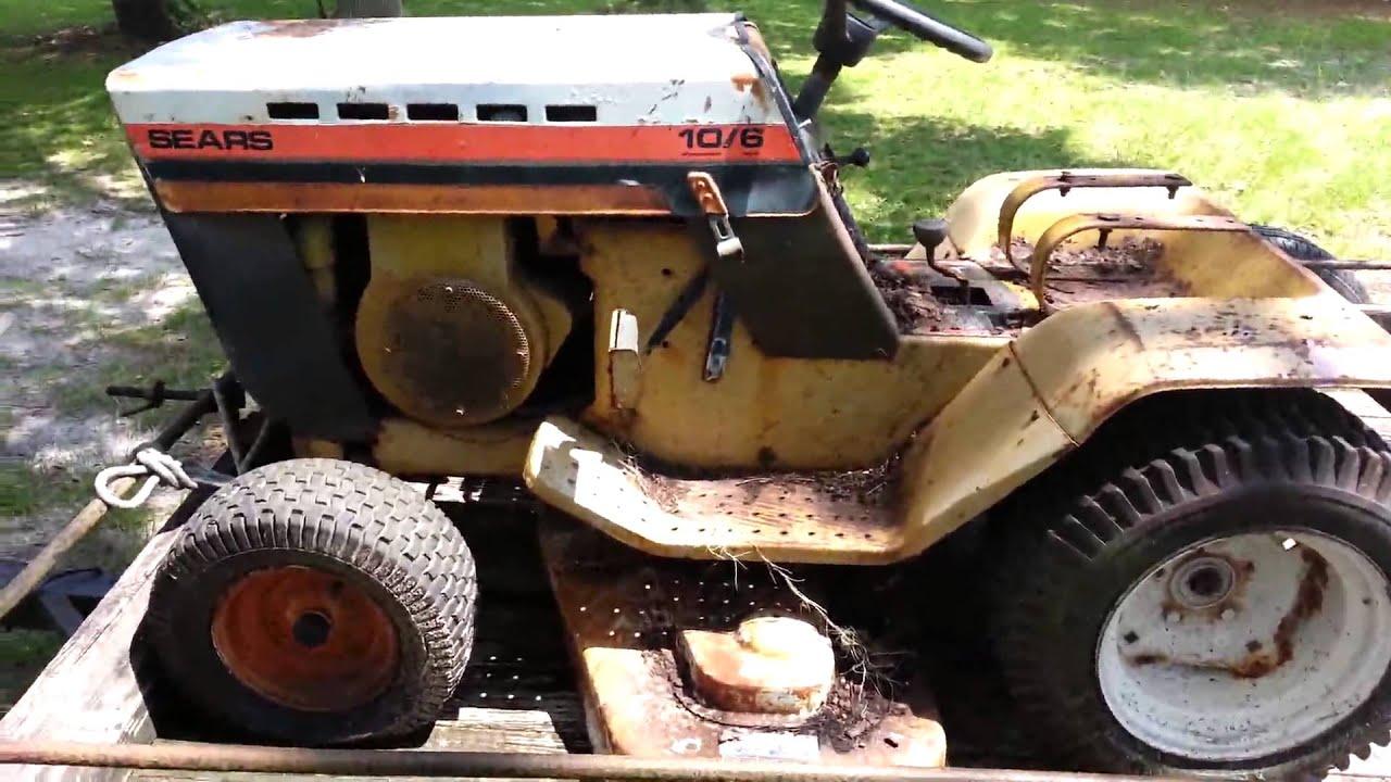 1977 sears 10 6 garden tractor youtube